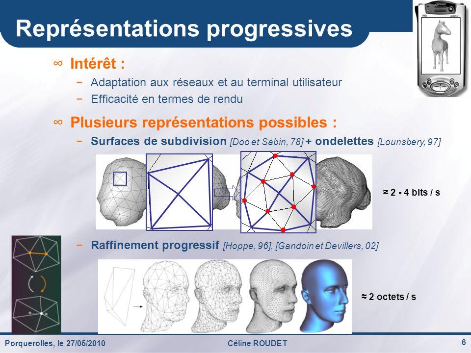 Représentations progressives
