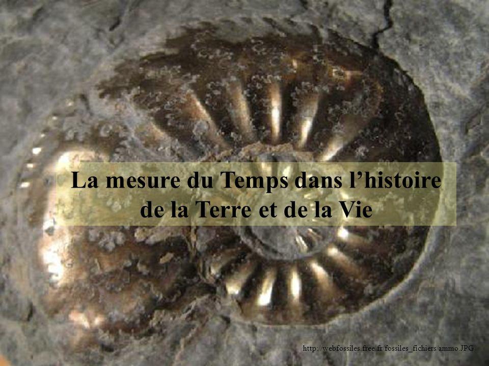 La mesure du Temps dans l'histoire de la Terre et de la Vie