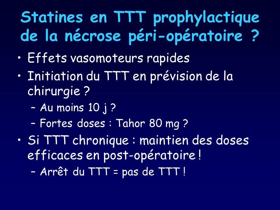 Statines en TTT prophylactique de la nécrose péri-opératoire