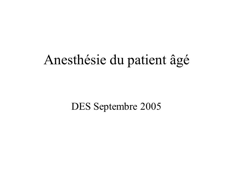 Anesthésie du patient âgé