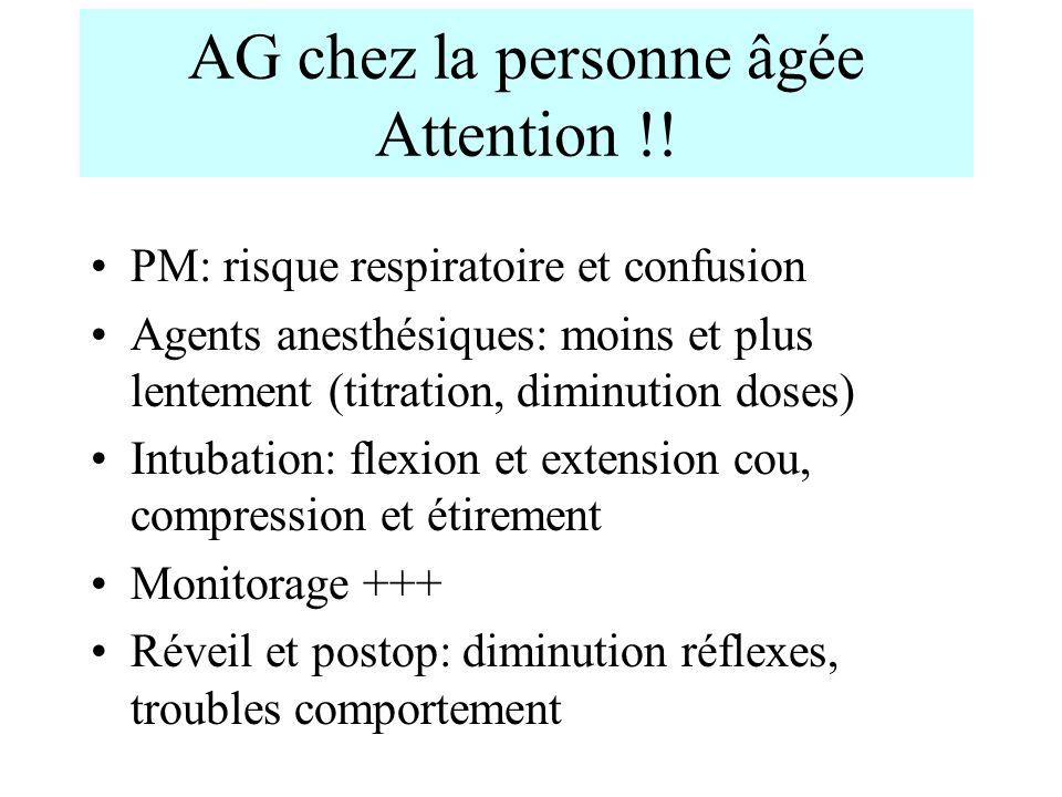 AG chez la personne âgée Attention !!