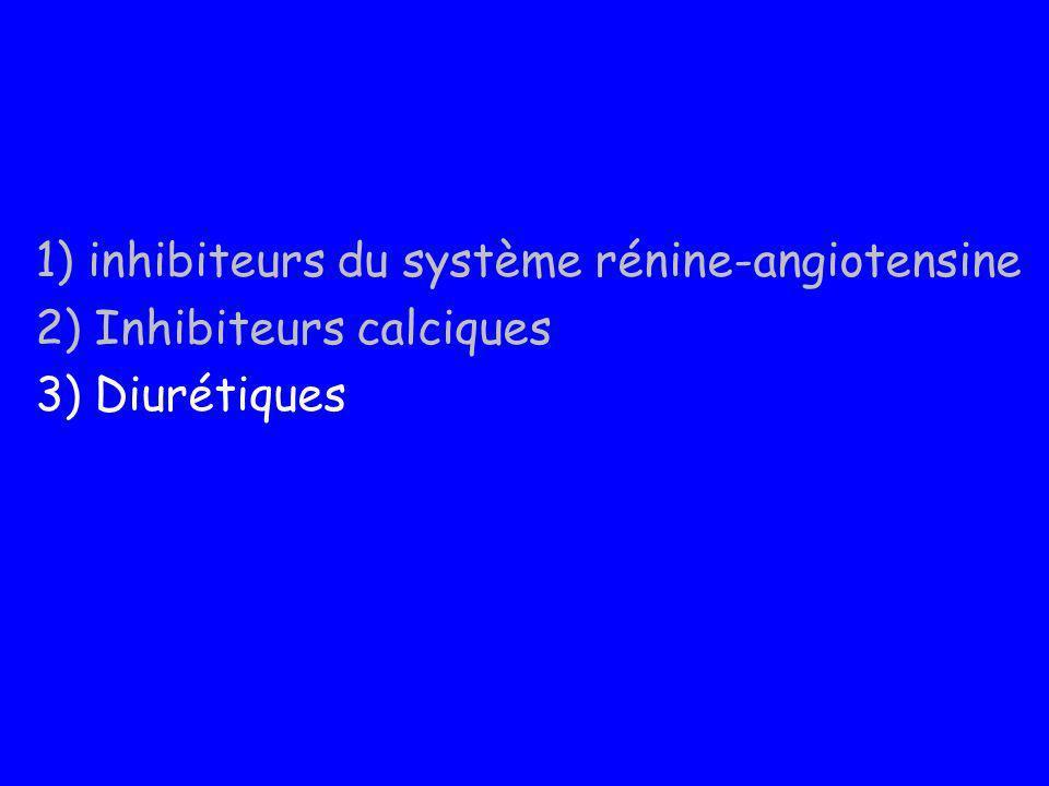 1) inhibiteurs du système rénine-angiotensine