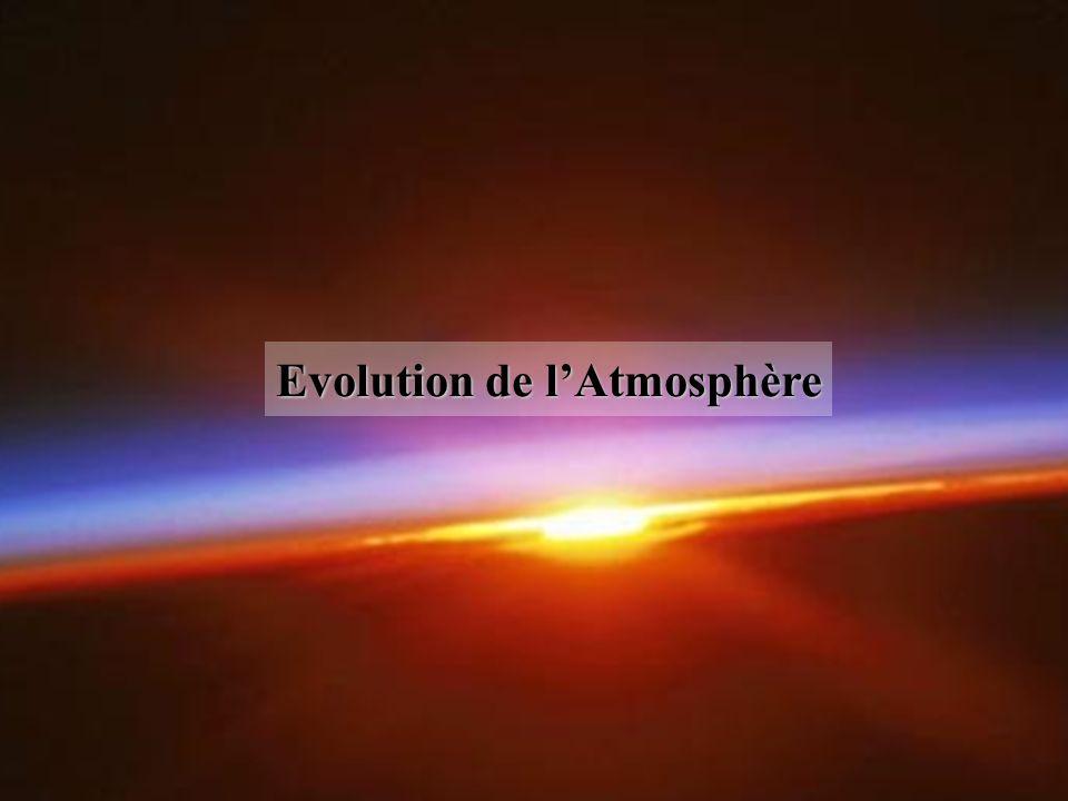 Evolution de l'Atmosphère