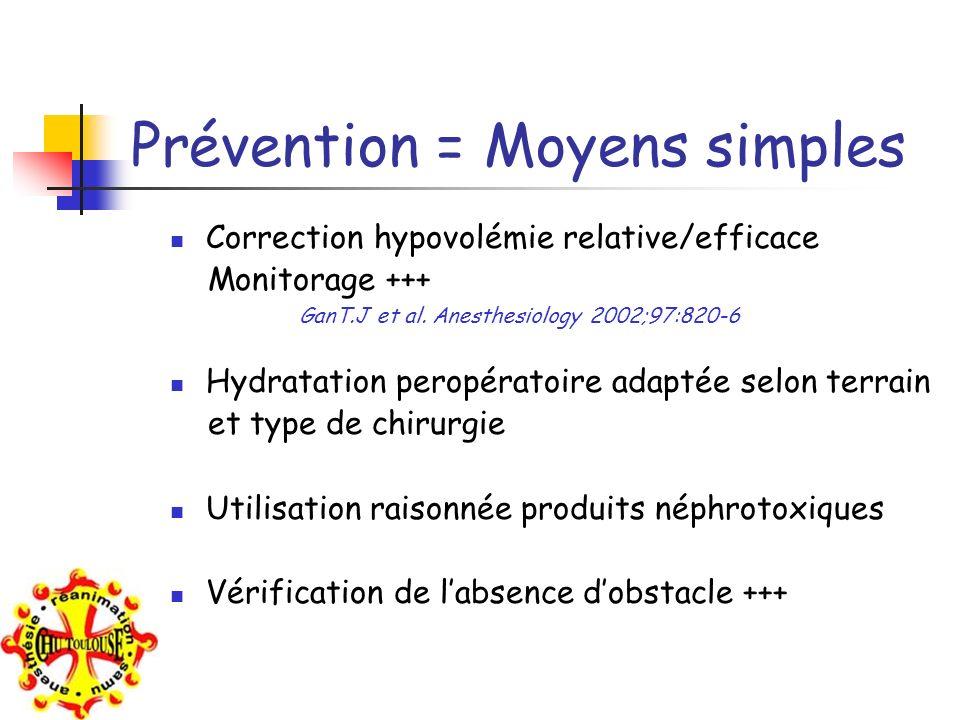 Prévention = Moyens simples