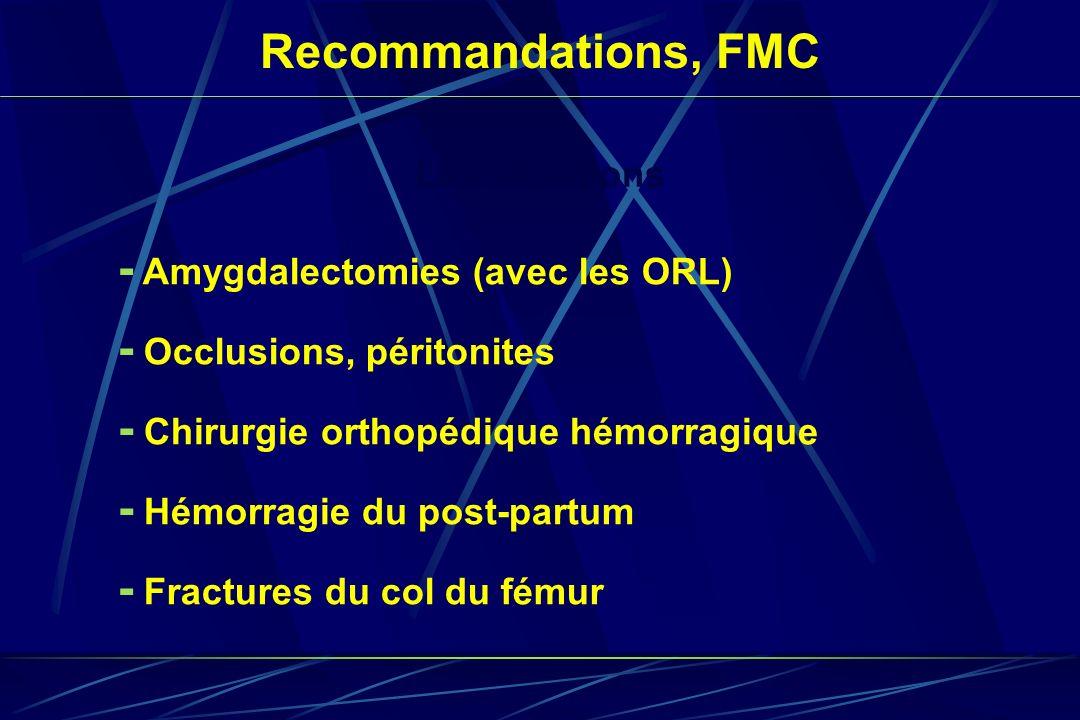 - Amygdalectomies (avec les ORL)