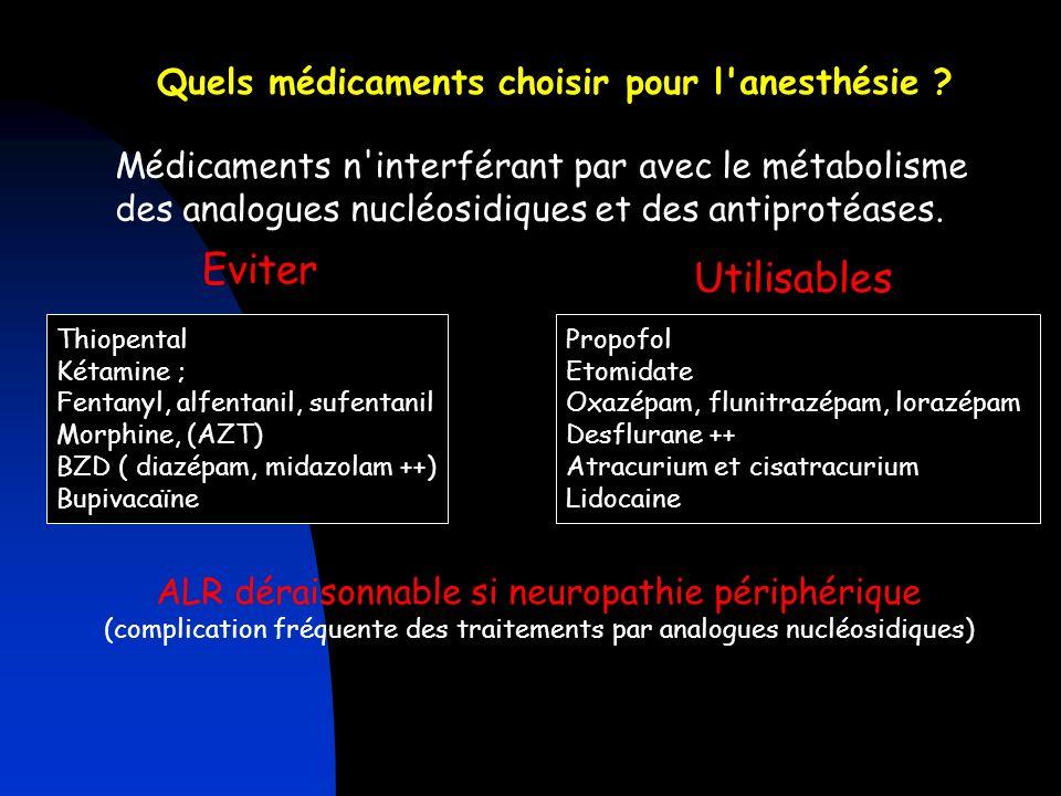 Quels médicaments choisir pour l anesthésie