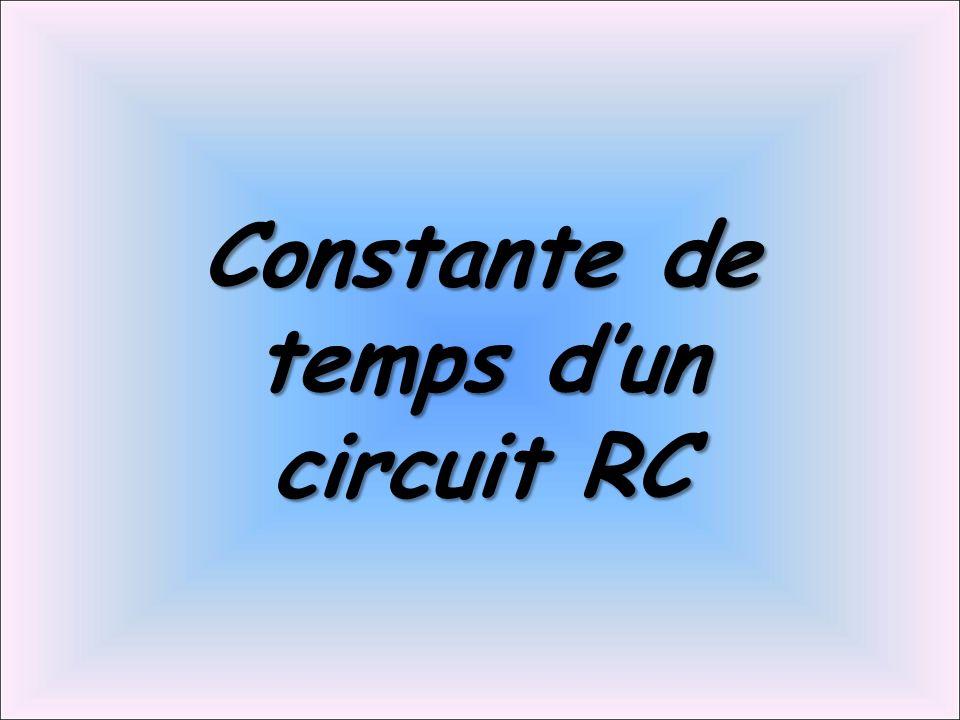 Constante de temps d'un circuit RC