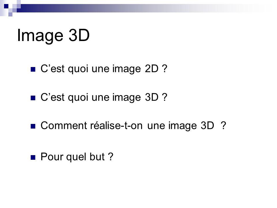 Image 3D C'est quoi une image 2D C'est quoi une image 3D