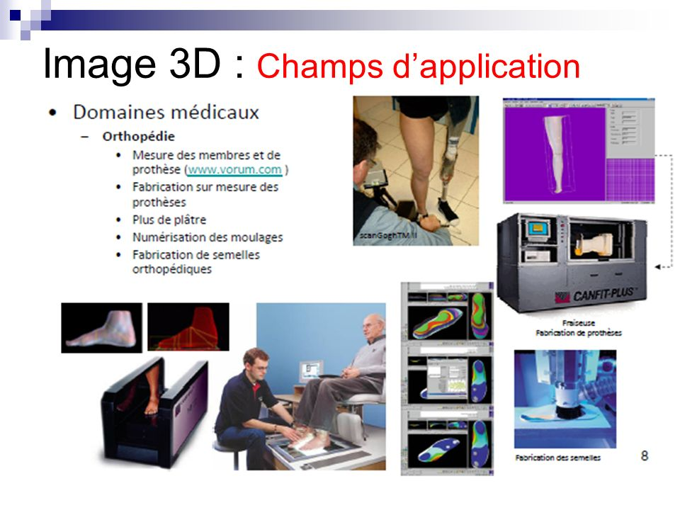 Image 3D : Champs d'application