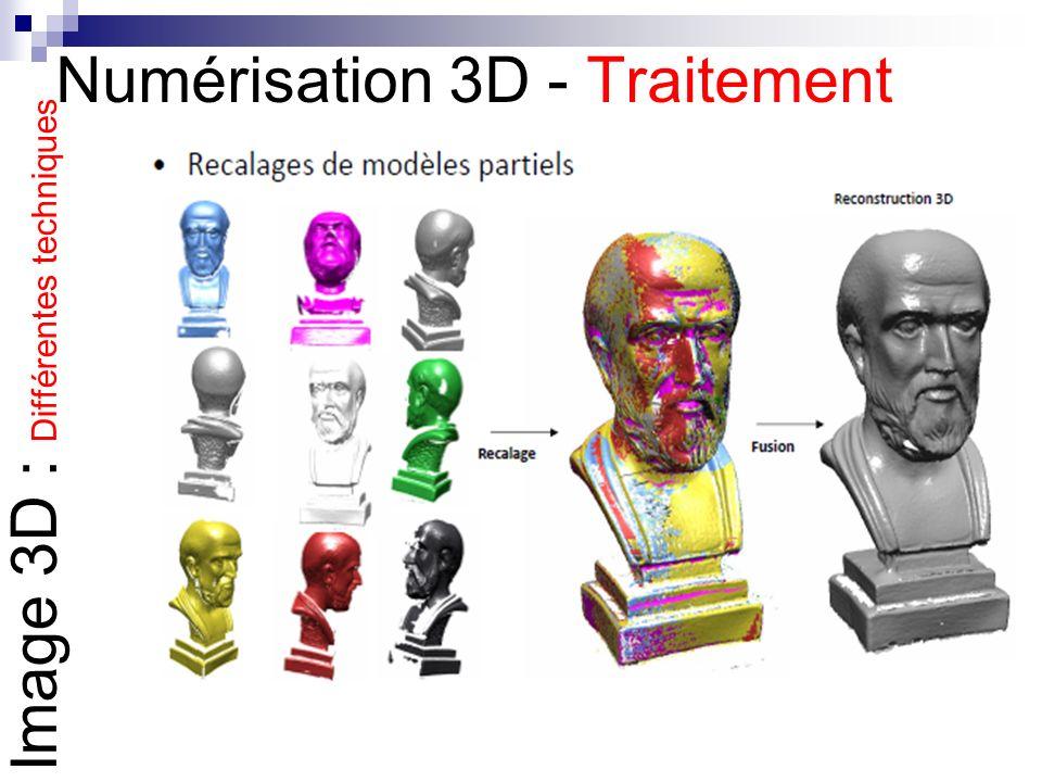 Numérisation 3D - Traitement