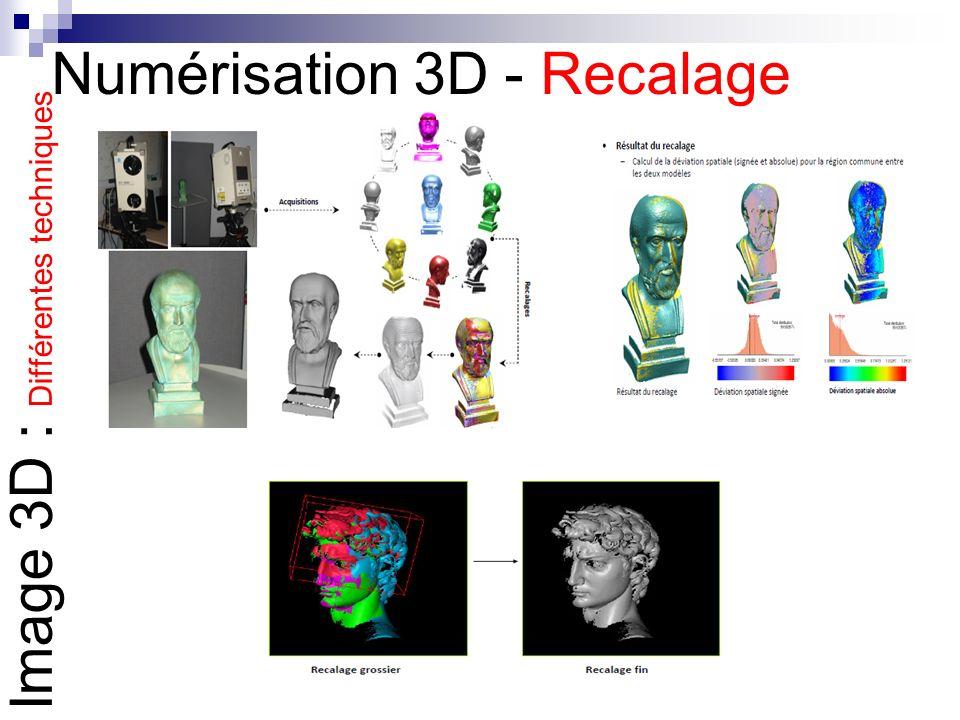Numérisation 3D - Recalage
