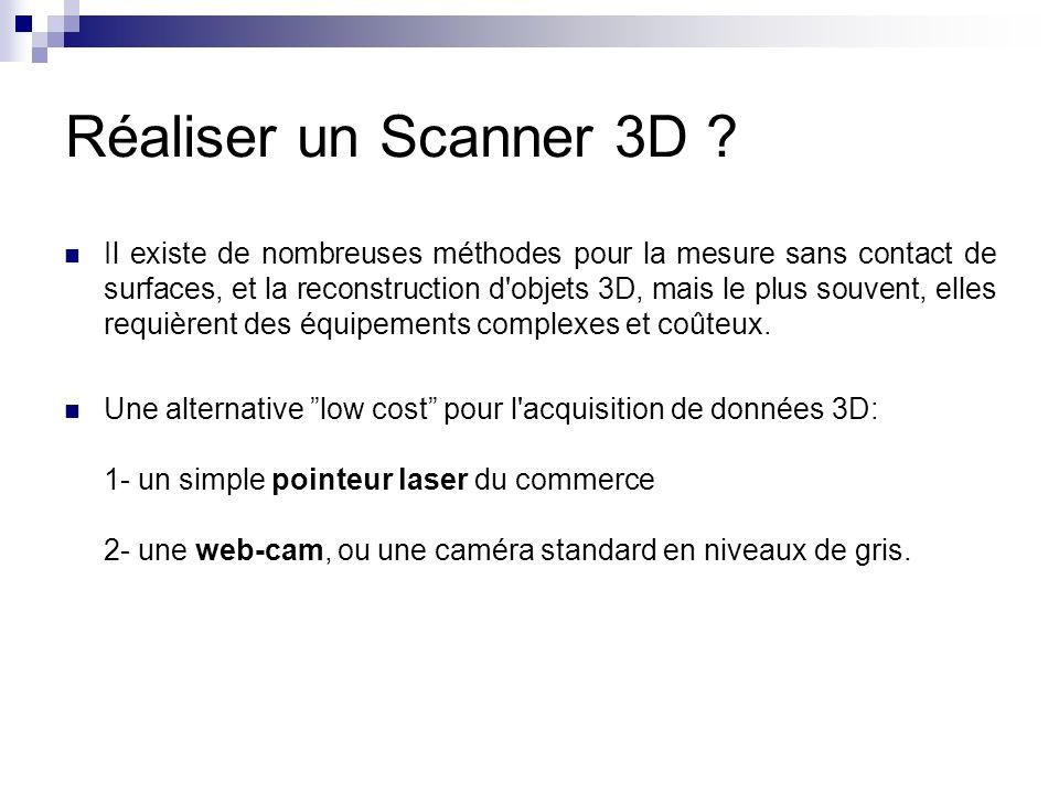 Réaliser un Scanner 3D