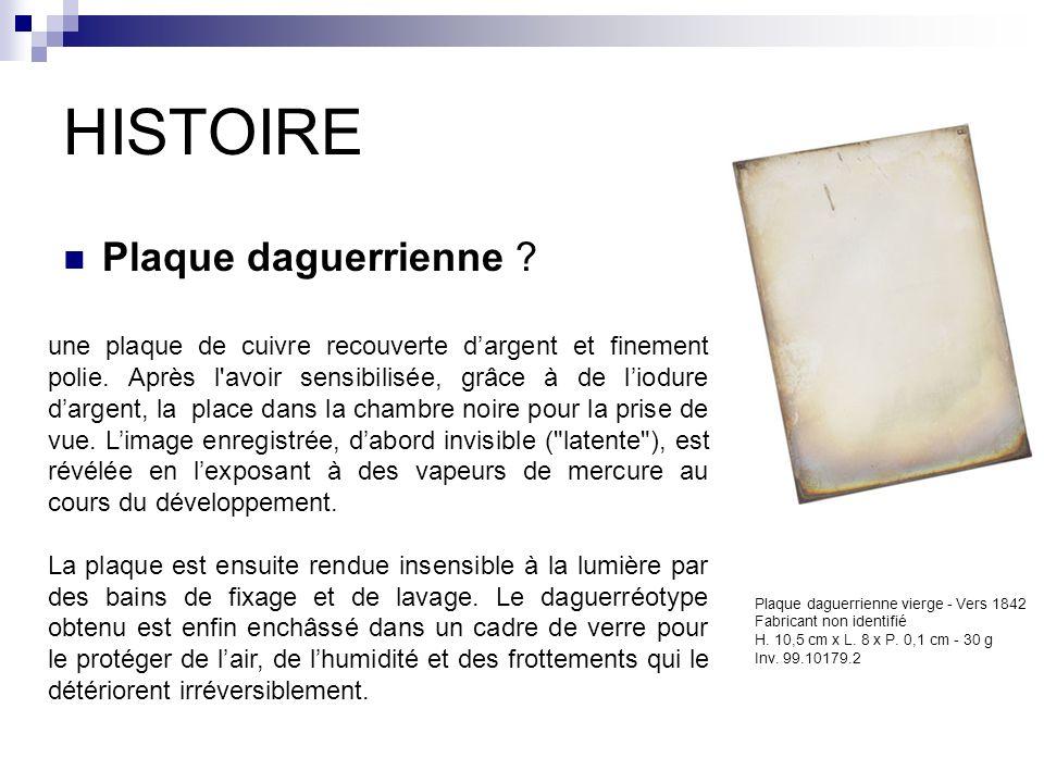 HISTOIRE Plaque daguerrienne