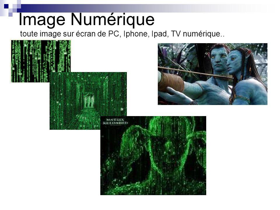 Image Numérique toute image sur écran de PC, Iphone, Ipad, TV numérique..