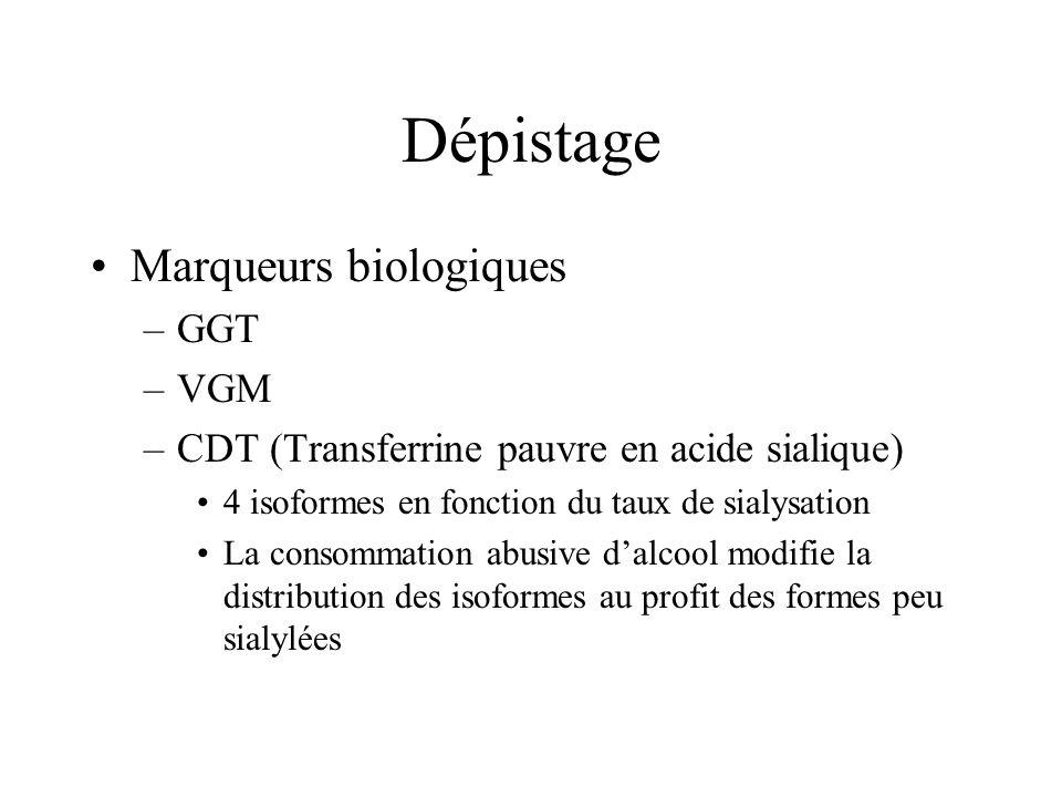 Dépistage Marqueurs biologiques GGT VGM