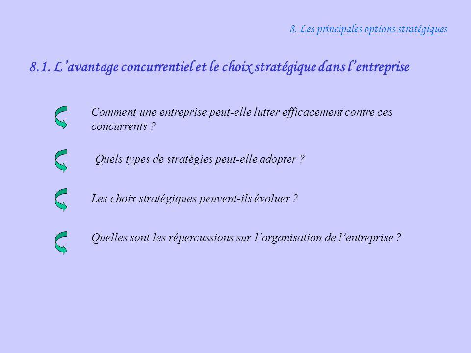 8. Les principales options stratégiques