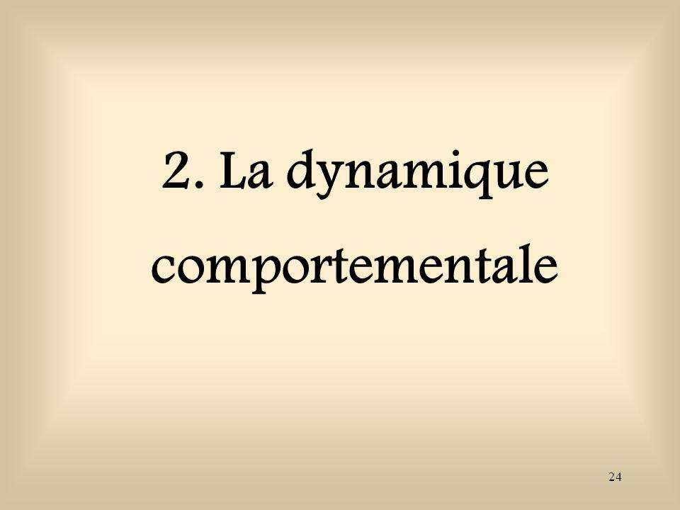 2. La dynamique comportementale