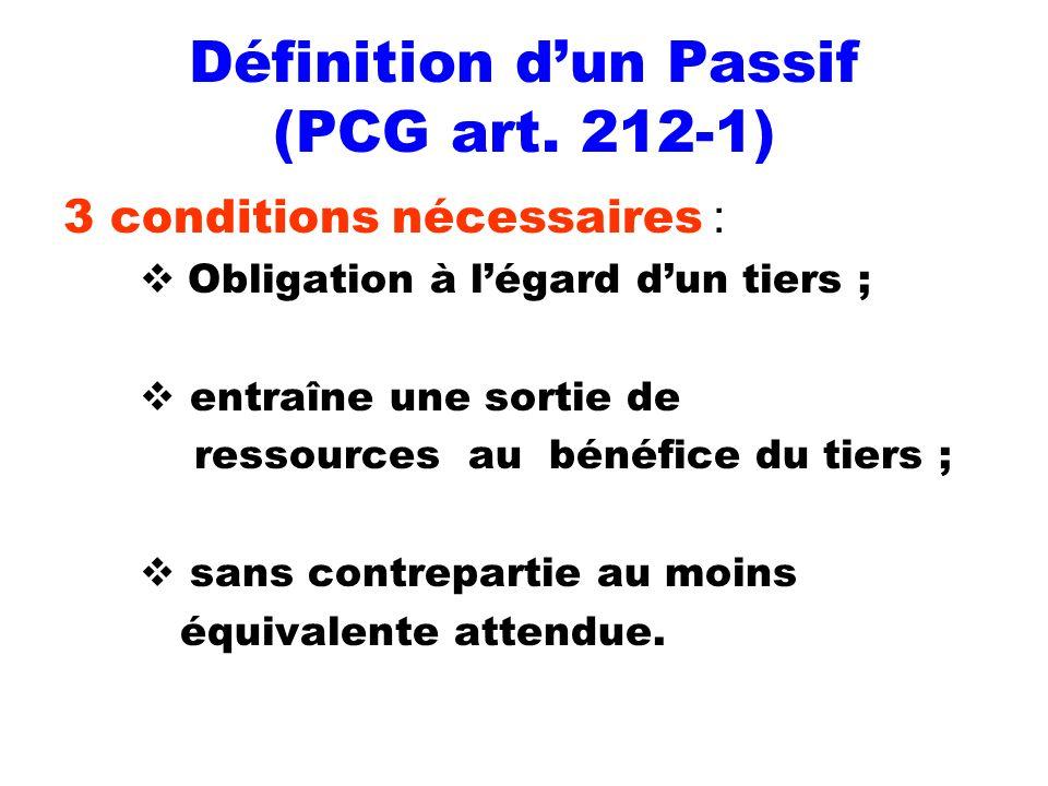 Définition d'un Passif (PCG art. 212-1)