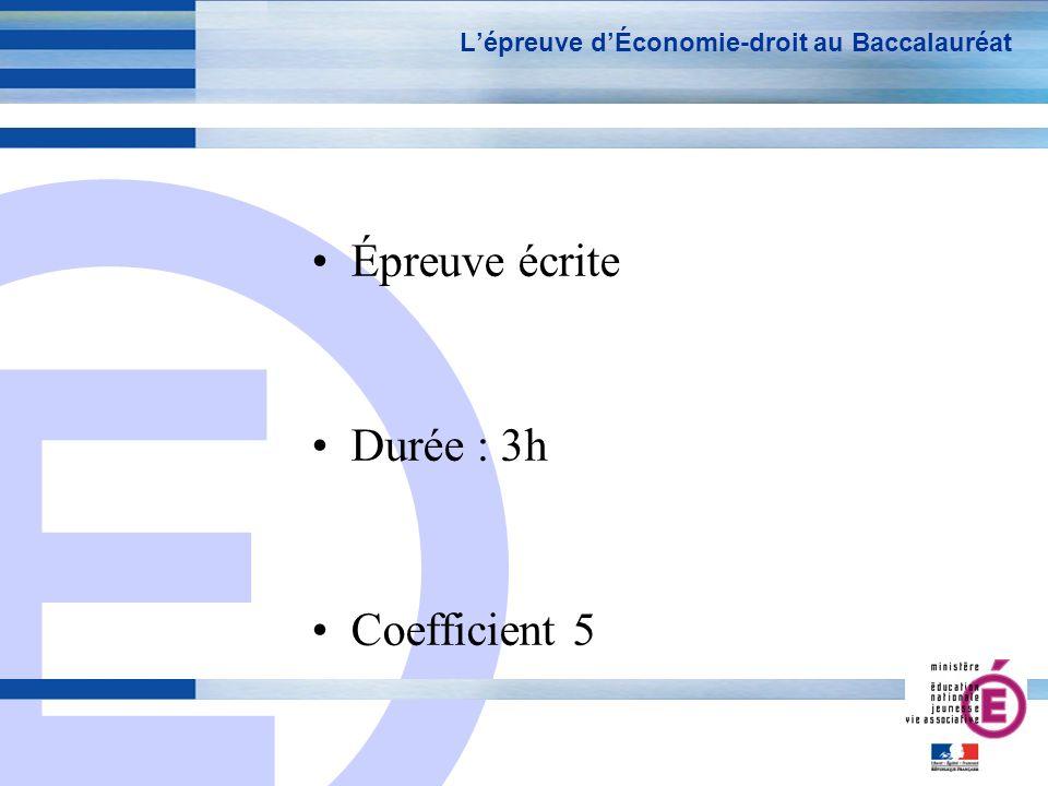 L'épreuve d'Économie-droit au Baccalauréat