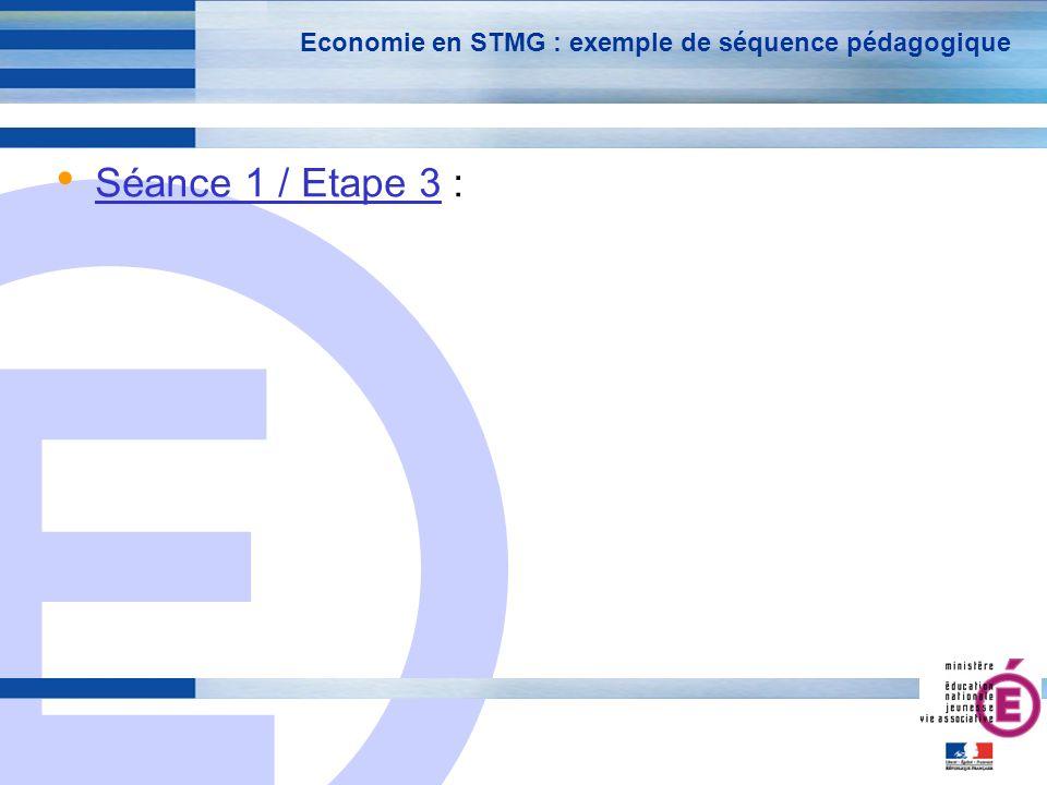 Economie en STMG : exemple de séquence pédagogique