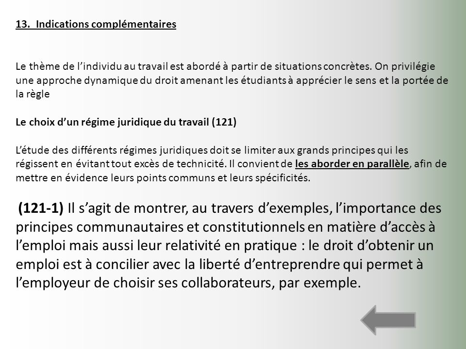 13. Indications complémentaires