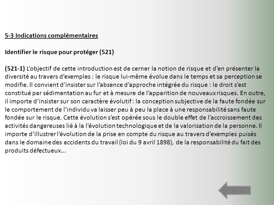 5-3 Indications complémentaires
