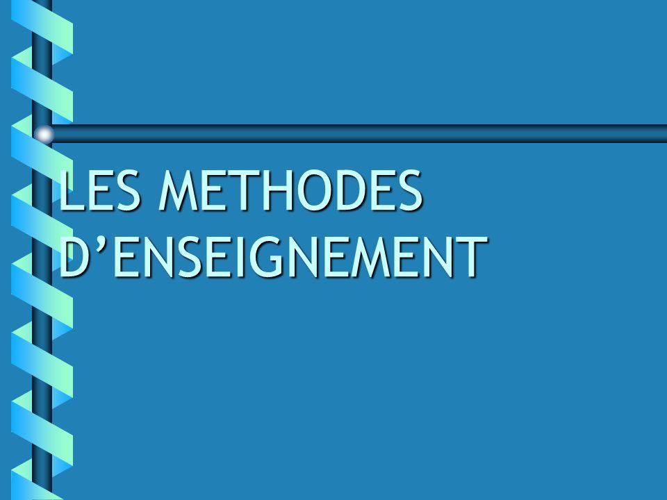LES METHODES D'ENSEIGNEMENT