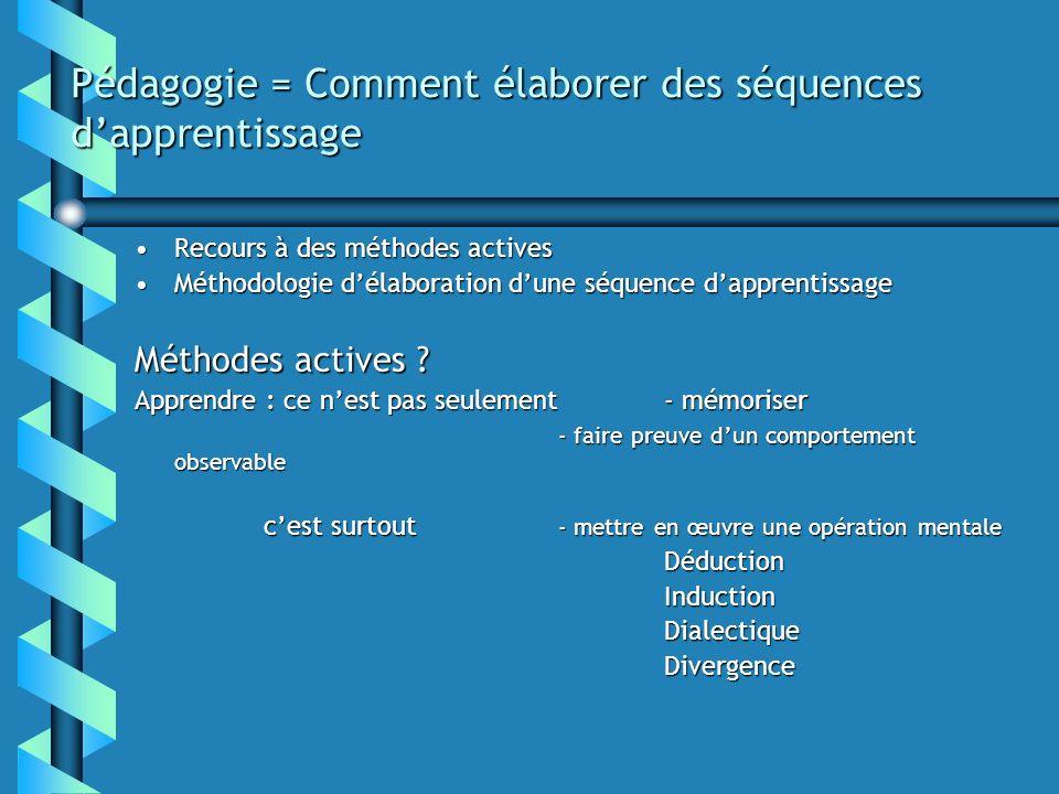 Pédagogie = Comment élaborer des séquences d'apprentissage
