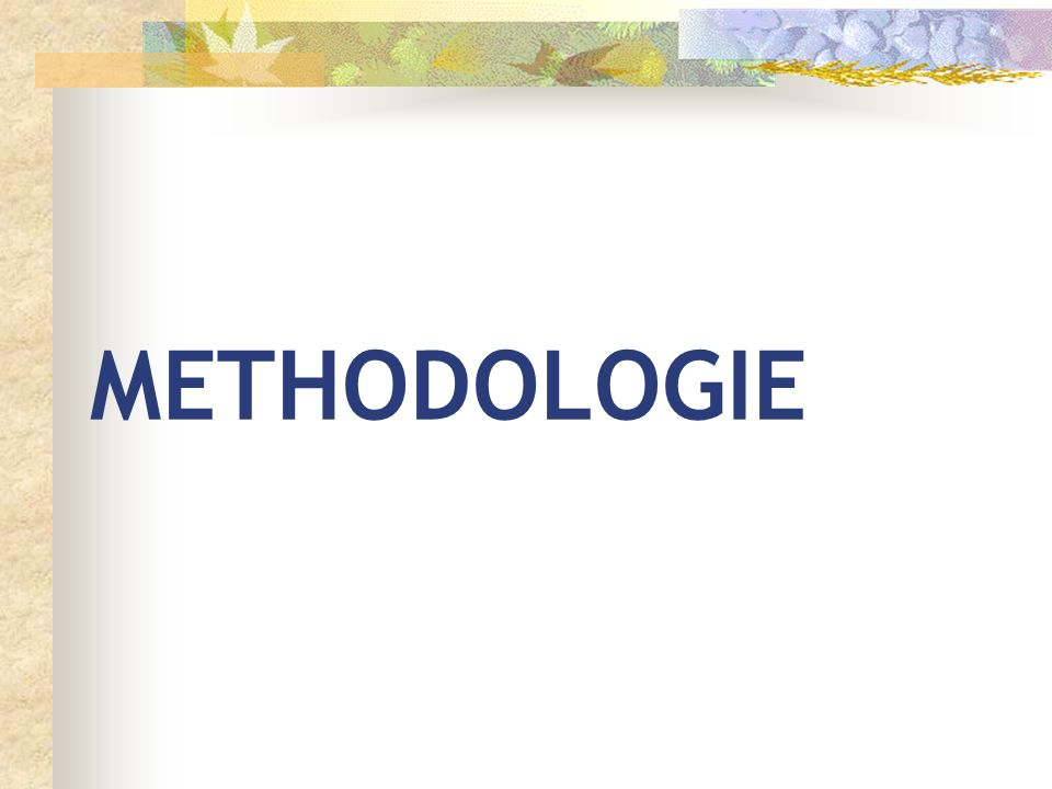 METHODOLOGIE