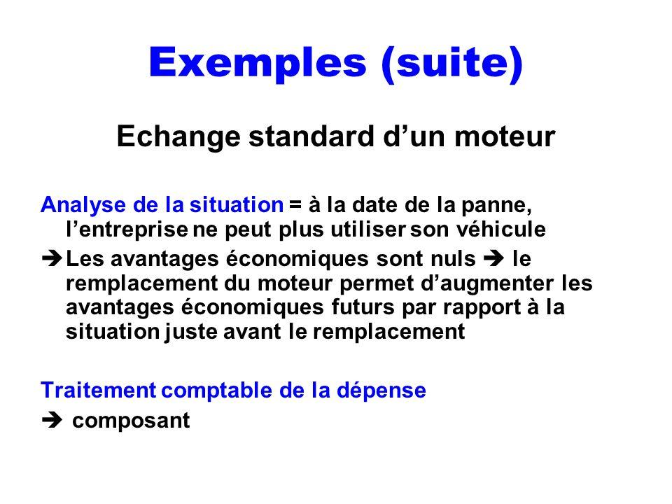 Echange standard d'un moteur