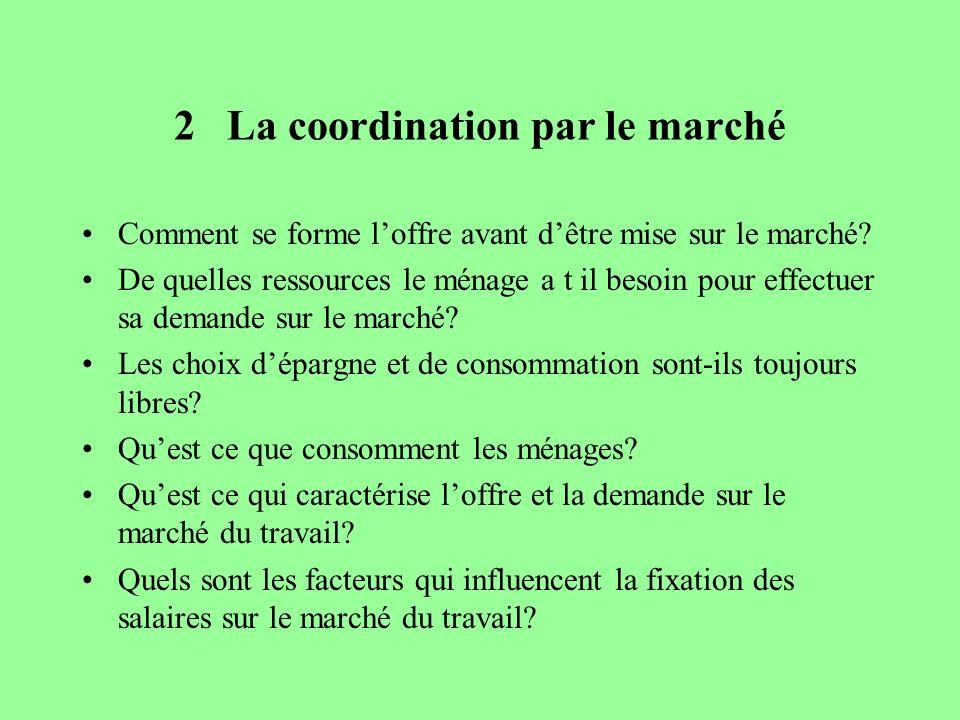 2 La coordination par le marché
