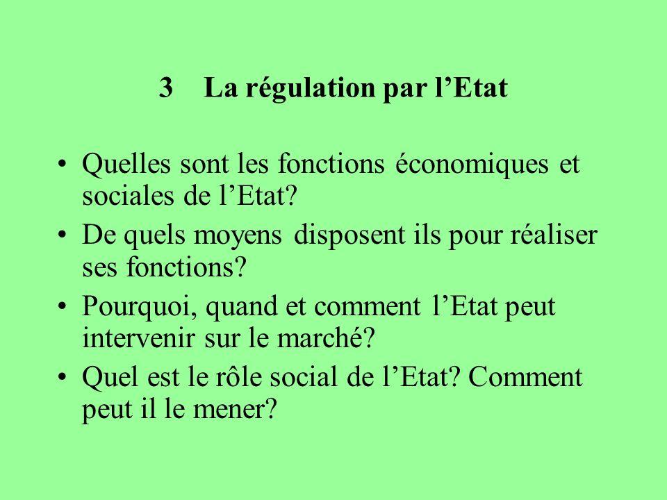 3 La régulation par l'Etat