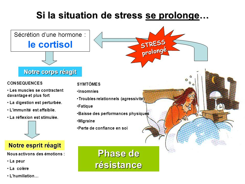 Si la situation de stress se prolonge…