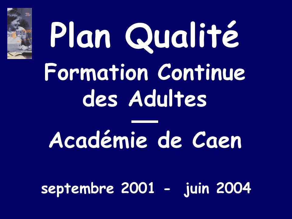 Formation Continue des Adultes