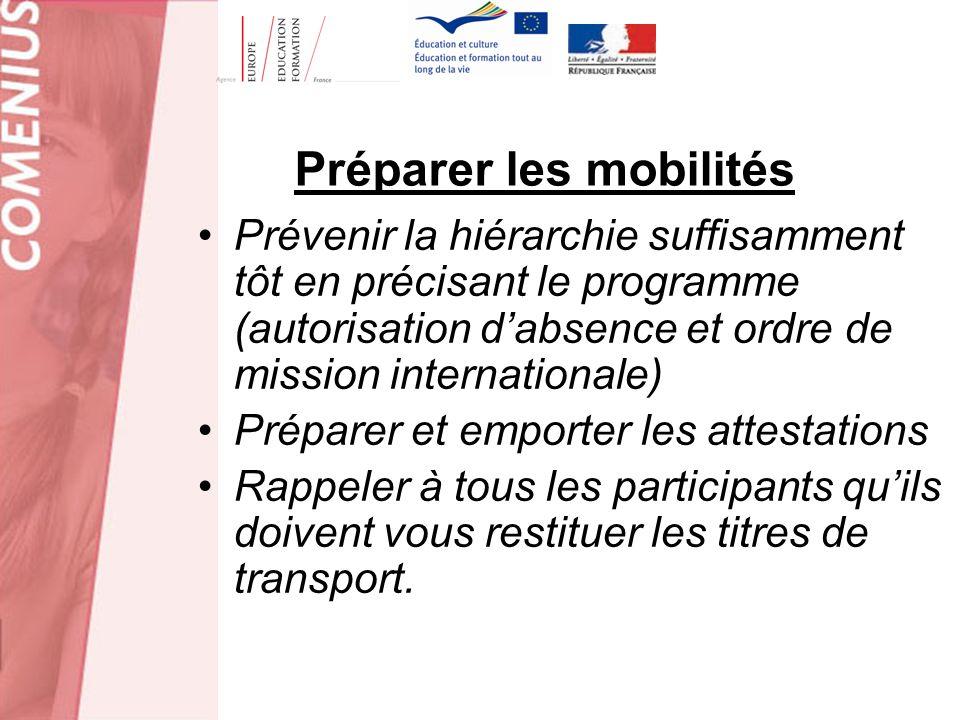 Préparer les mobilités