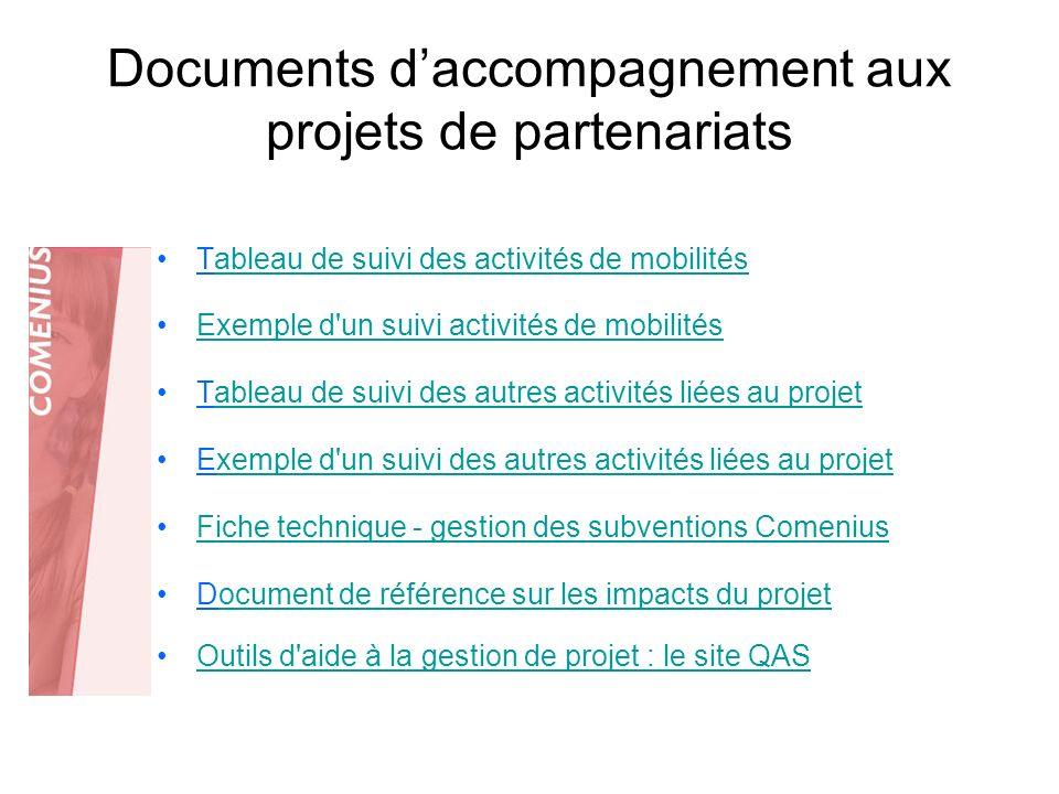 Documents d'accompagnement aux projets de partenariats