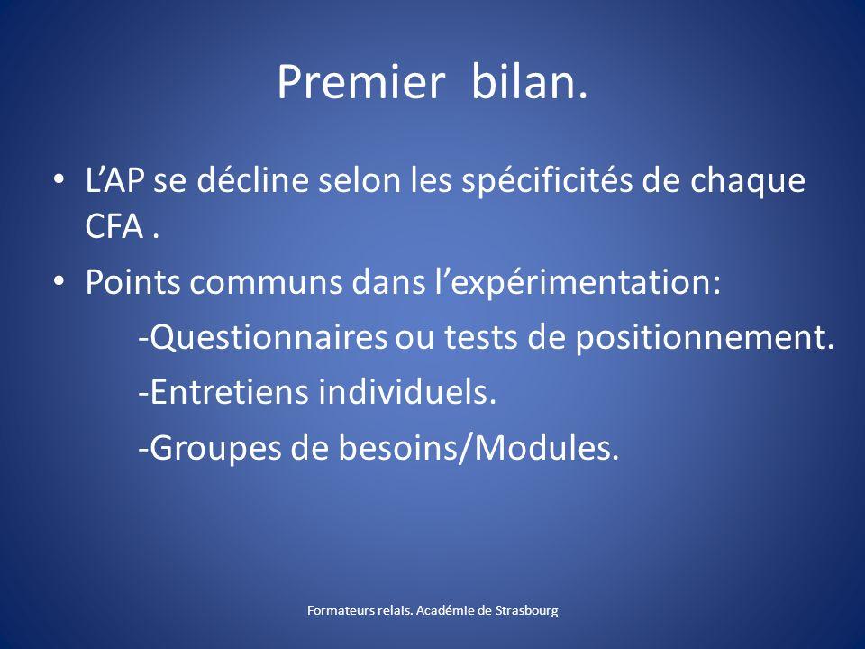 Formateurs relais. Académie de Strasbourg