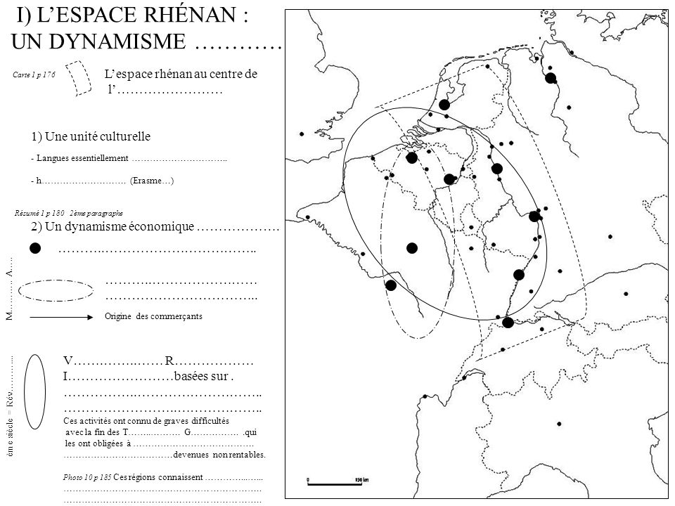 I) L'ESPACE RHÉNAN : UN DYNAMISME ………… L'espace rhénan au centre de