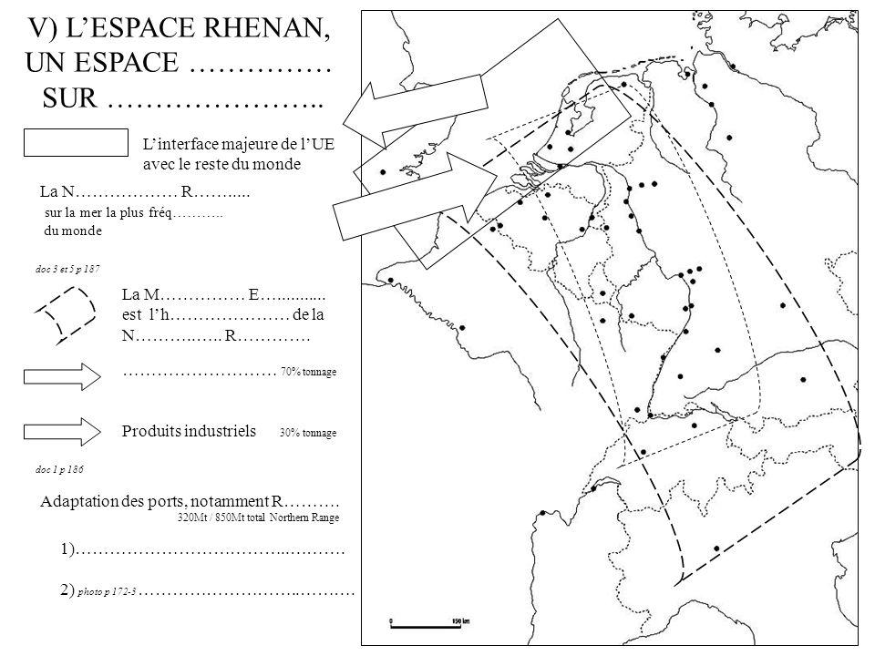 V) L'ESPACE RHENAN, UN ESPACE …………… SUR …………………..
