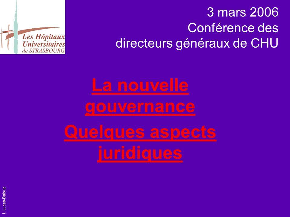 3 mars 2006 Conférence des directeurs généraux de CHU