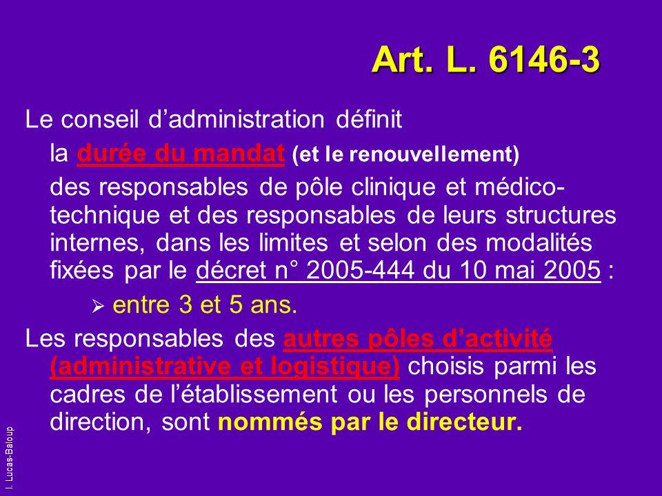 Art. L. 6146-3 Le conseil d'administration définit