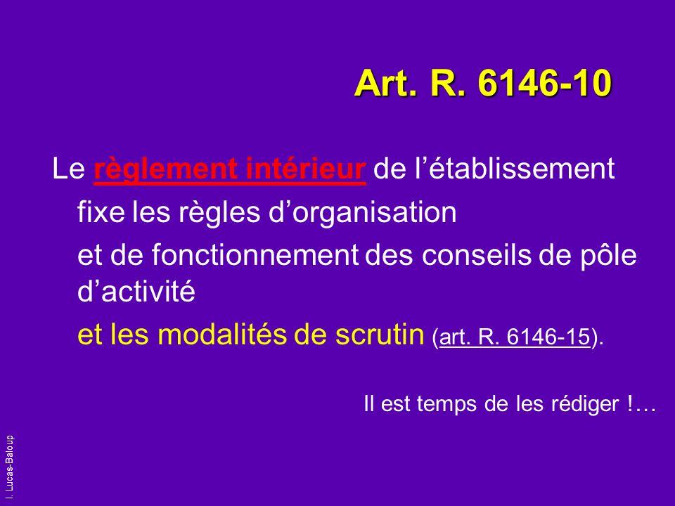 Art. R. 6146-10 Le règlement intérieur de l'établissement