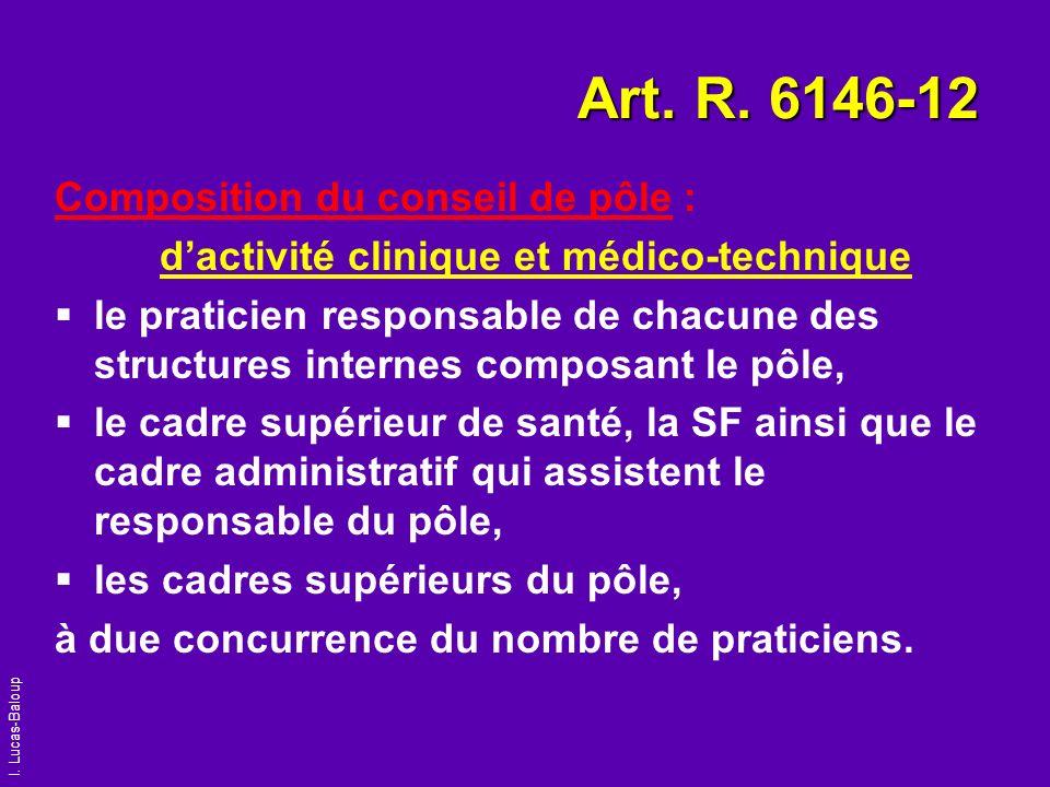 Art. R. 6146-12 Composition du conseil de pôle :