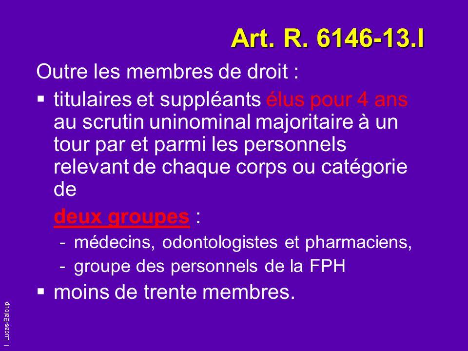 Art. R. 6146-13.I Outre les membres de droit :