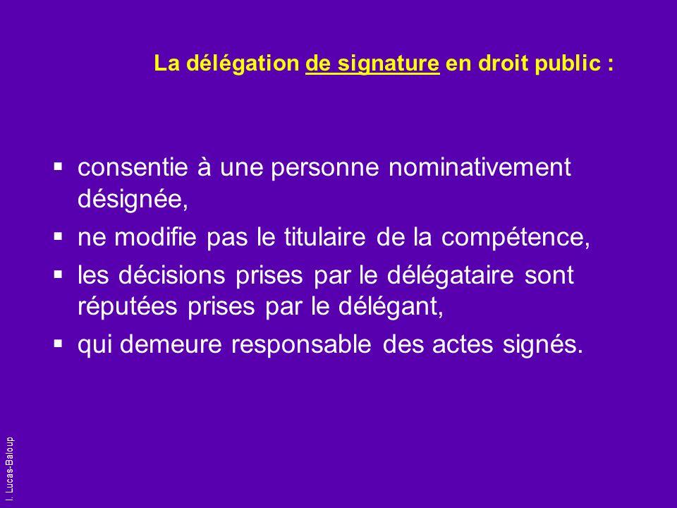 La délégation de signature en droit public :