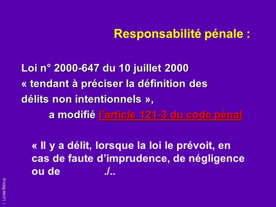 Responsabilité pénale :