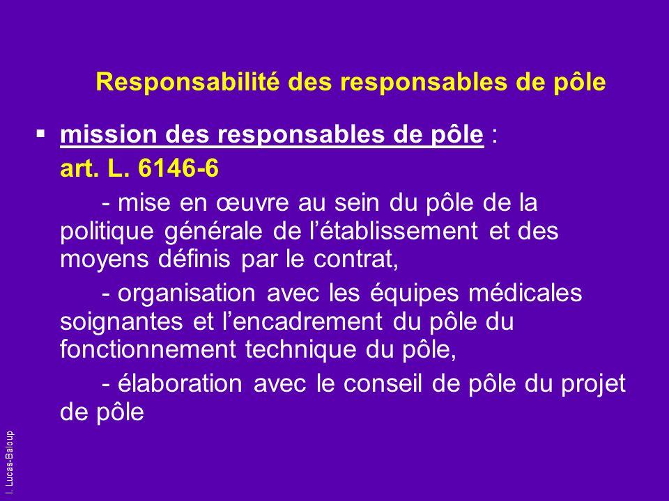 Responsabilité des responsables de pôle