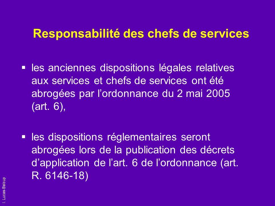 Responsabilité des chefs de services