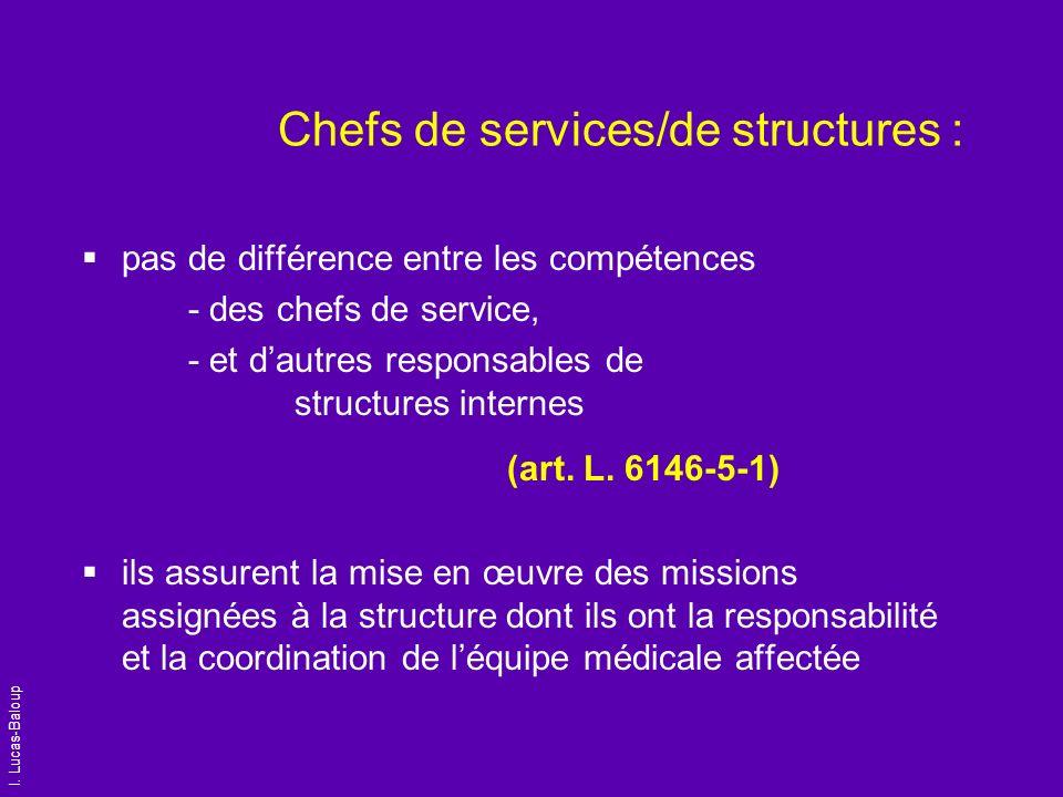 Chefs de services/de structures :