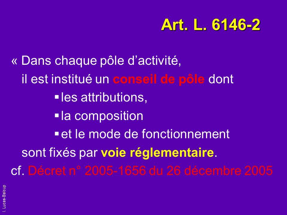Art. L. 6146-2 « Dans chaque pôle d'activité,